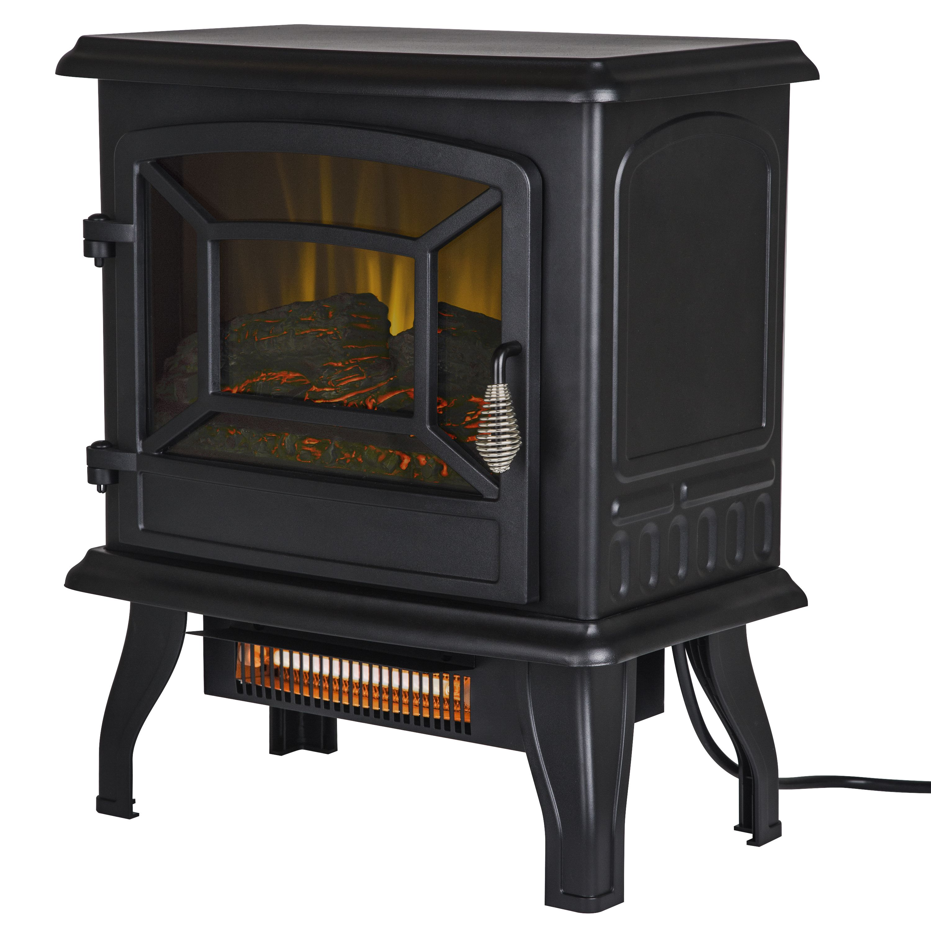 Pleasant Hearth Infrared Electric Stove 2 Stage Heater 17 In In 2020 Freestanding Fireplace Electric Stove Heaters Electric Stove