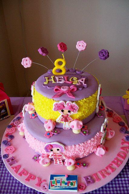 Lalaloopsy Cake by Treasures and Tiaras Kids Parties, via Flickr