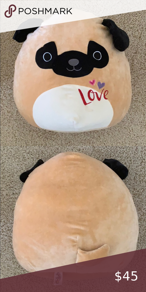 New 16 Plush Pug Squishmallows Aztec Fashion Mini Candy Canes Plush Stuffed Animals