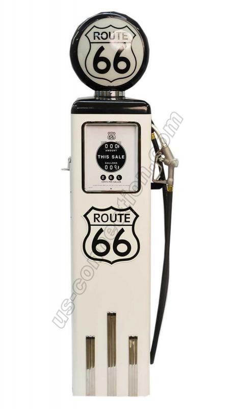 Pompe à essence ROUTE 66. Parfaite réplique de la pompe \