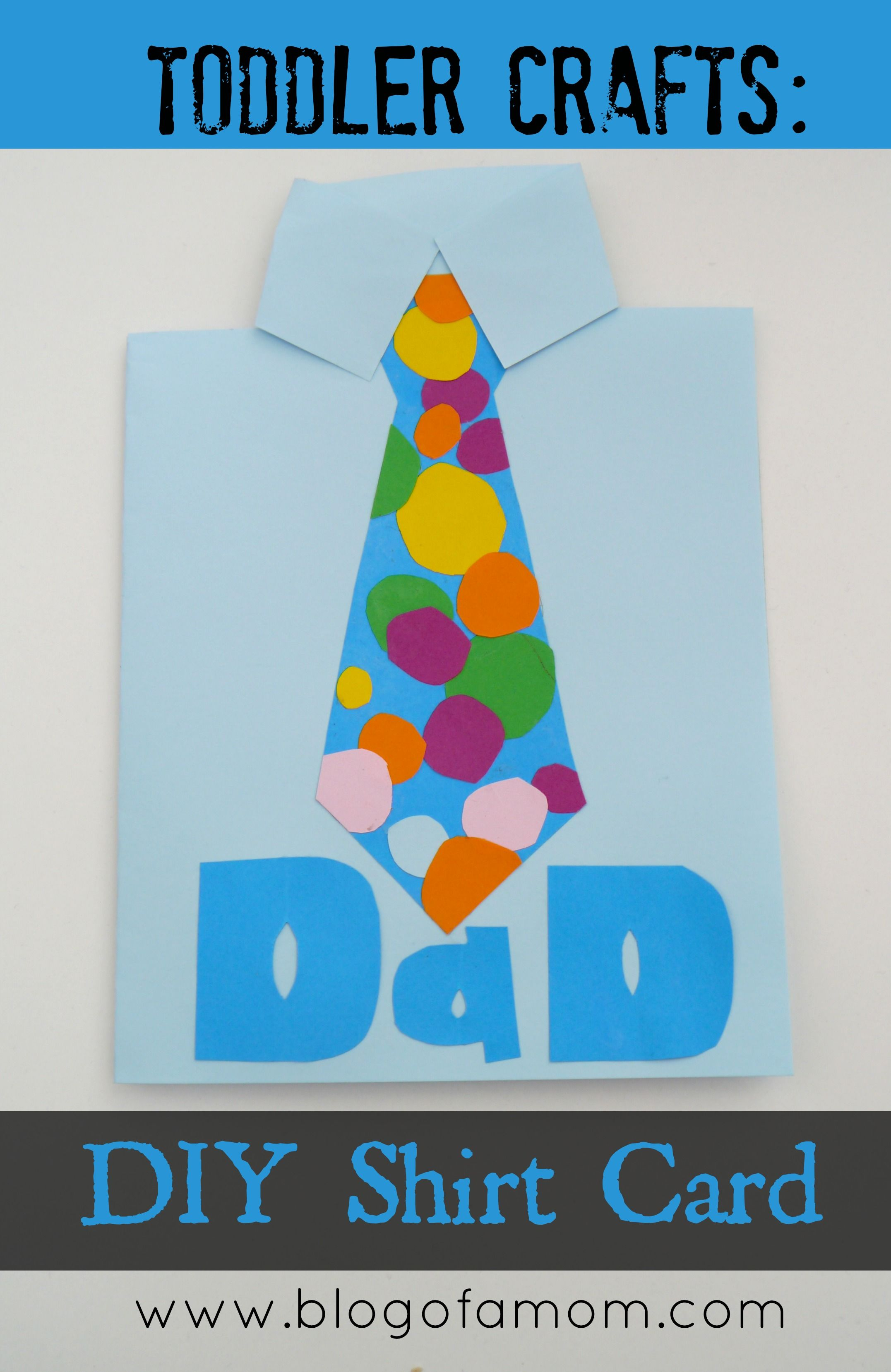 10 Easy Father S Day Cards For Toddlers To Make Homemade Birthday Cards Fathers Day Crafts Dad Cards