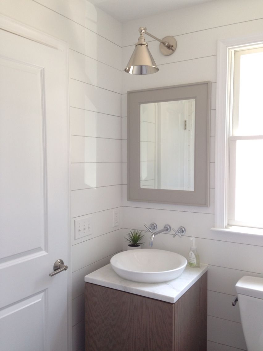 Beach House Mudroom Powder Room Bathroom Shiplap Pottery