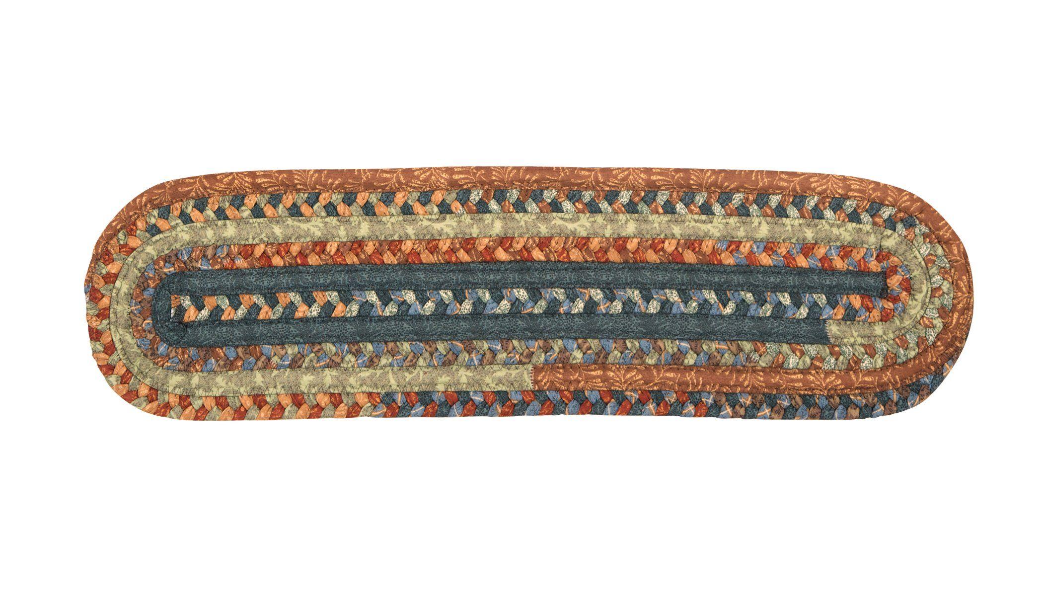 Best Olivera Oval Braided Cotton Blend Stair Tread Ov59 400 x 300