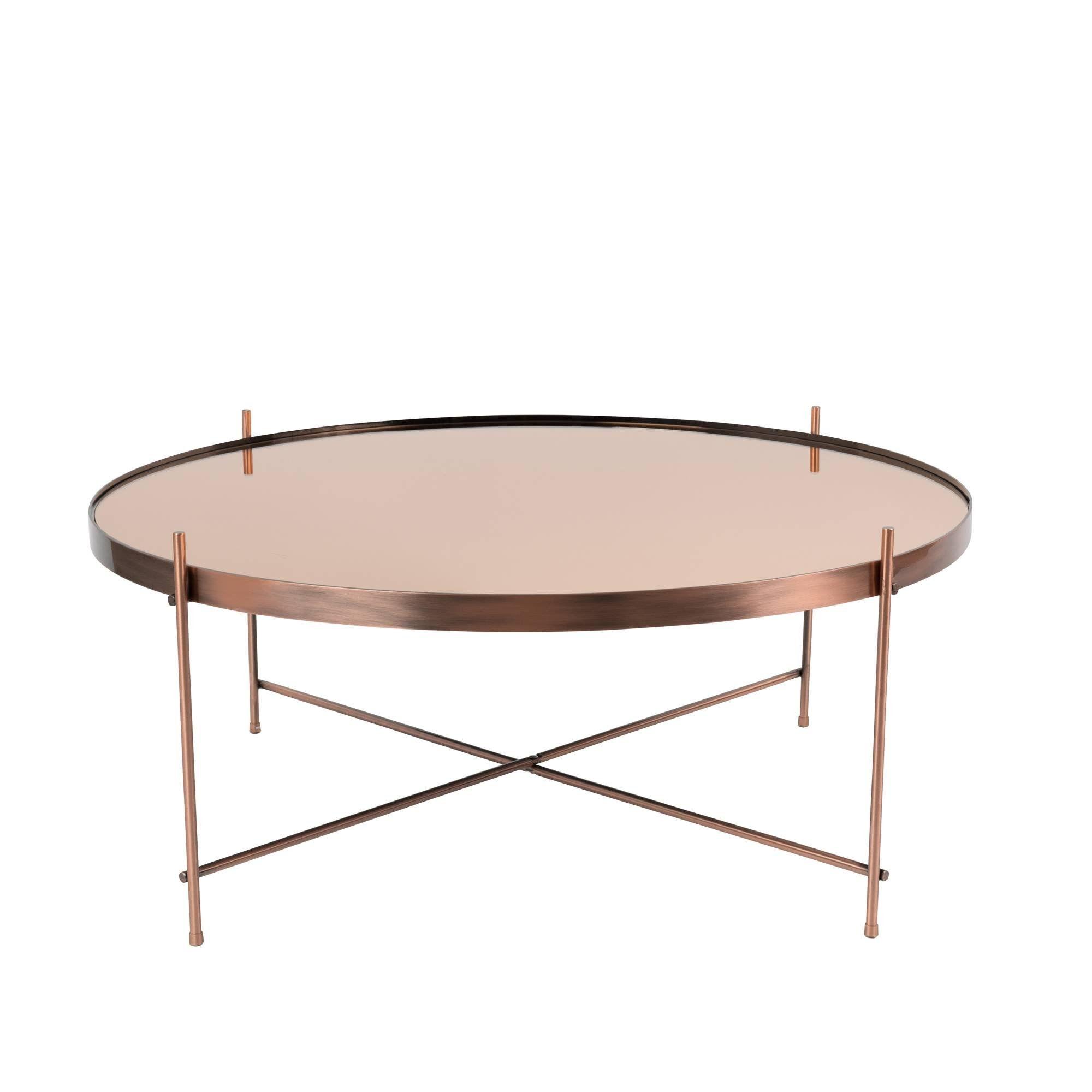 Table Basse Metal Plateau Miroir Cupid Xxl Zuiver Esthetique Et Convivialite Sont Au Rendez Vous Avec La Table D App Koffietafel Salontafel Glazen Salontafels