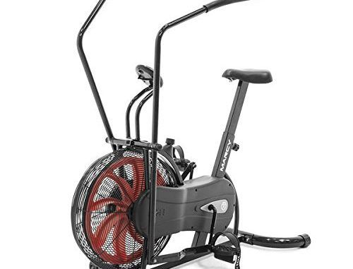 Marcy Black and Red 40-inch x 9-inch x 2-inch Ergonomic Portable Fan Bike | Top Exercise Bikes Reviews