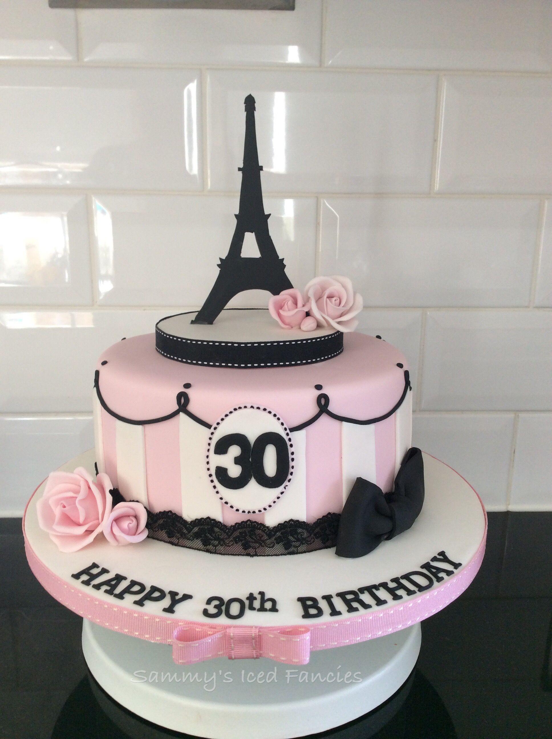 Pleasant Paris Themed 30Th Birthday Cake Paris Cakes Paris Themed Cakes Funny Birthday Cards Online Alyptdamsfinfo