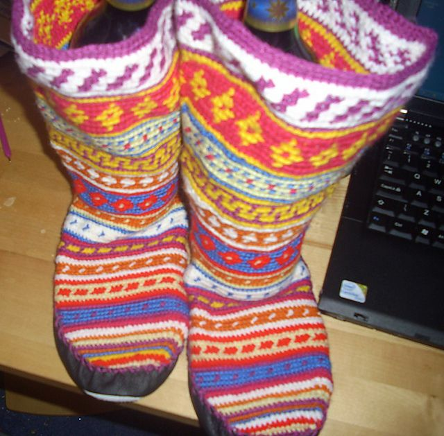 Ravelry Folksy Slipper Socks Crochet Mukluk Bootsmoccasins