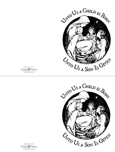 Free Printable Mary And Baby Jesus Christmas Card To Color Free Printable Christmas Cards Free Christmas Printables Free Printable Stationery