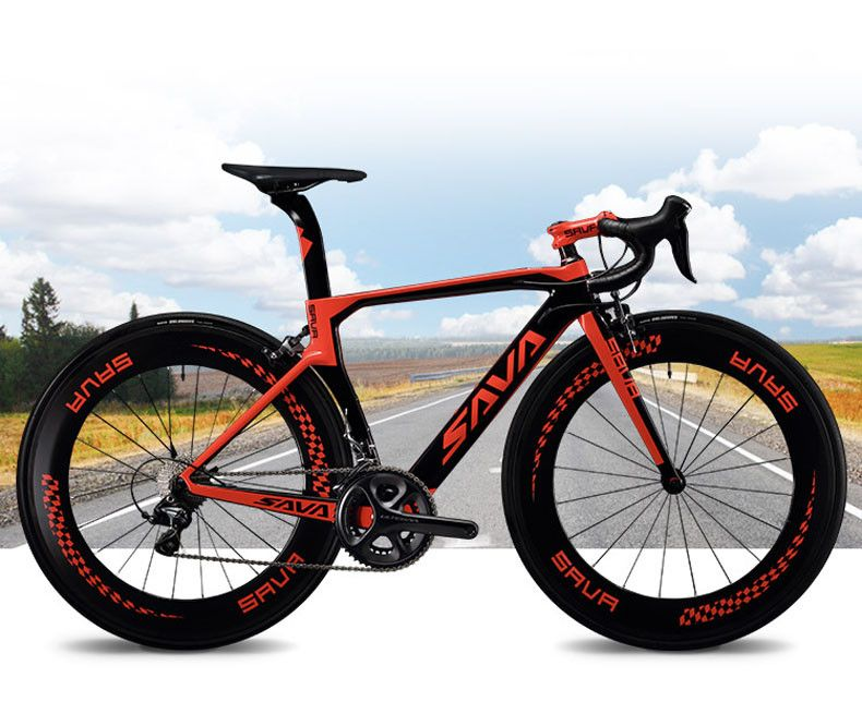 Sava 700c Road Bike T800 Carbon Fiber Frame Cycling Bicycle