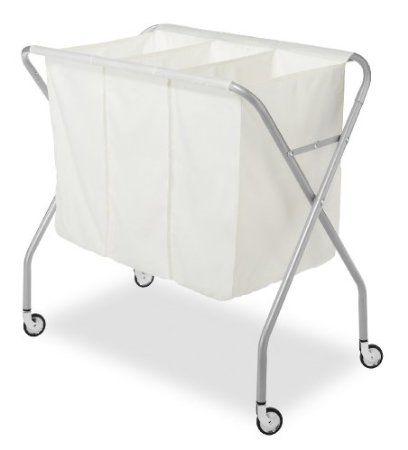 Amazon Com Whitmor 6705 569 3 Section Laundry Sorter Silver