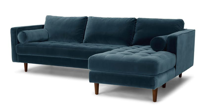 Sven Pacific Blue Right Sectional Sofa Sectional Sofa L Shaped Sofa Sectional Sleeper Sofa