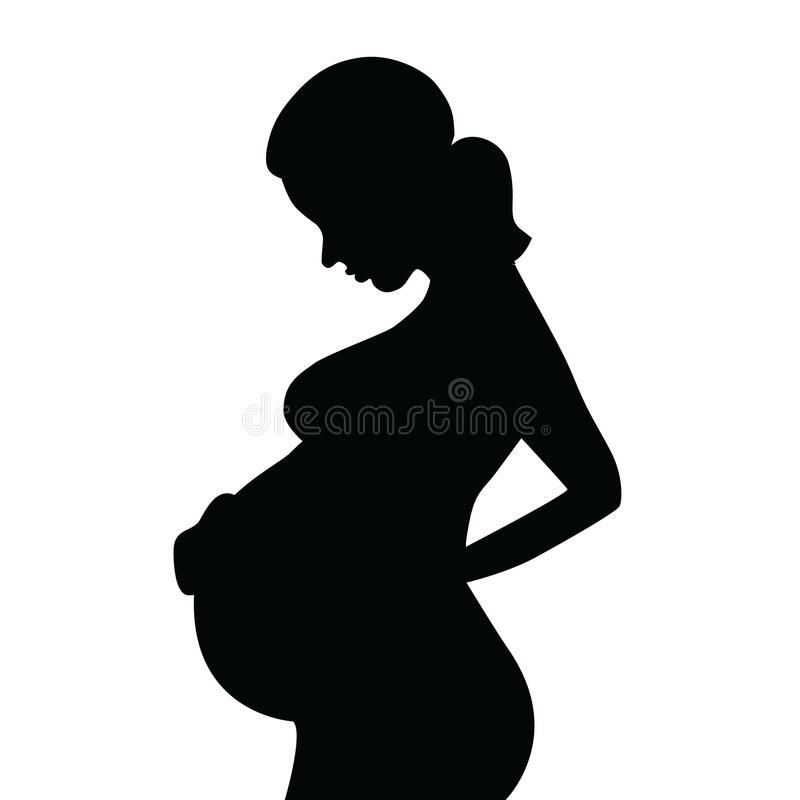 Silhouette Of A Pregnant Woman Royalty Free Illustration Baby Silhouette Pregnant Women Silhouette