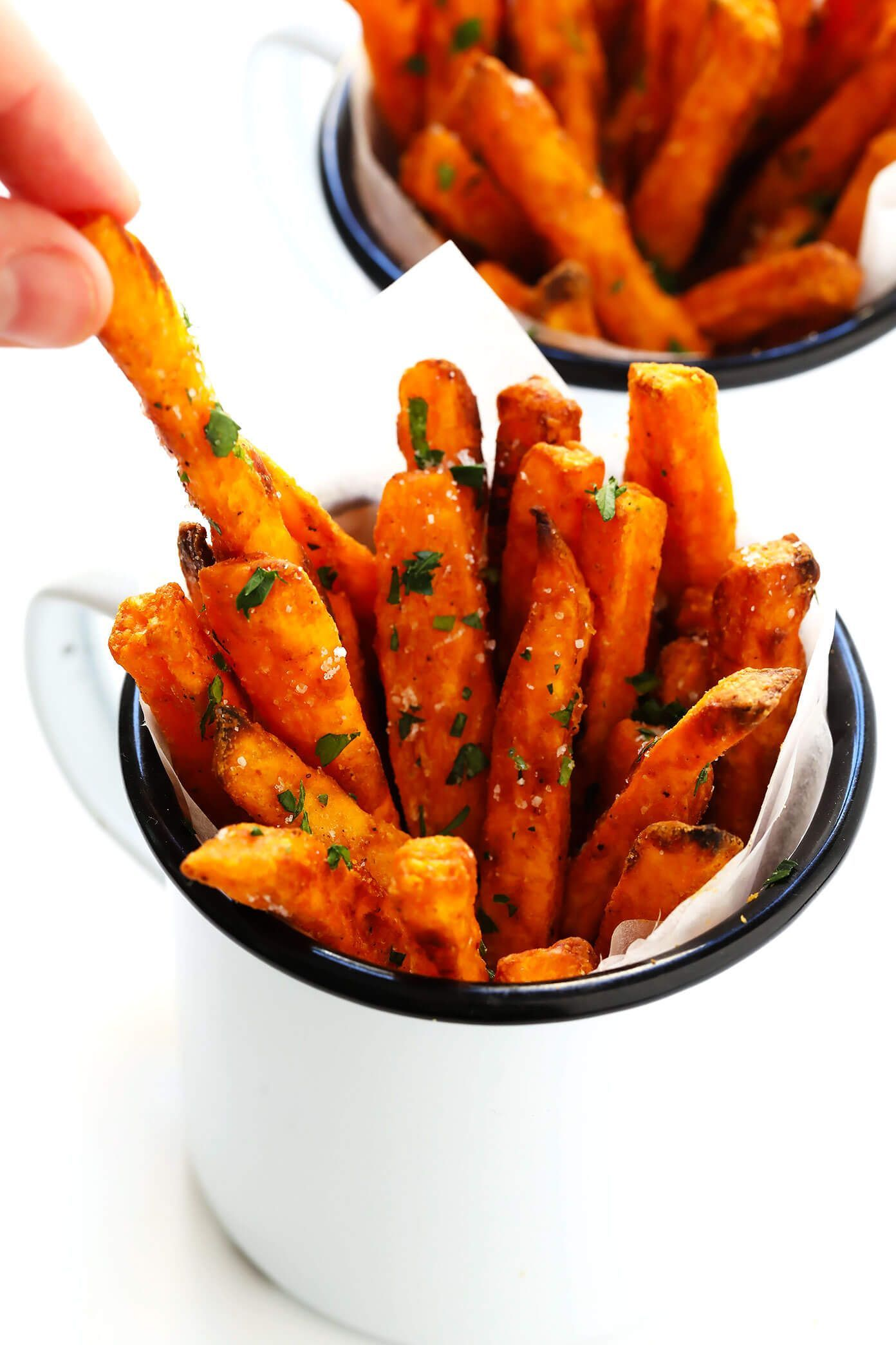 The Best Sweet Potato Fries Recipe Gimme Some Oven Recipe Best Baked Sweet Potato Sweet Potato Recipes Fries Sweet Potato Fries Baked