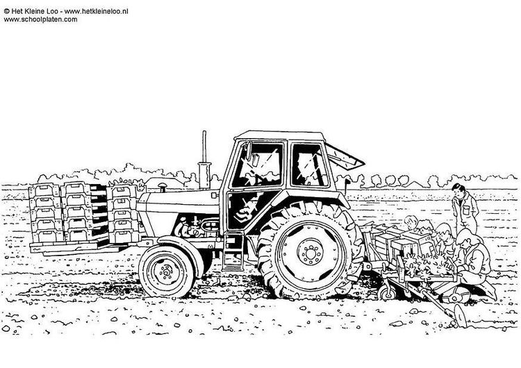 Coloring Page Planting Crops Img 8285 Coloring Pages Tractor Art Coloring Pictures