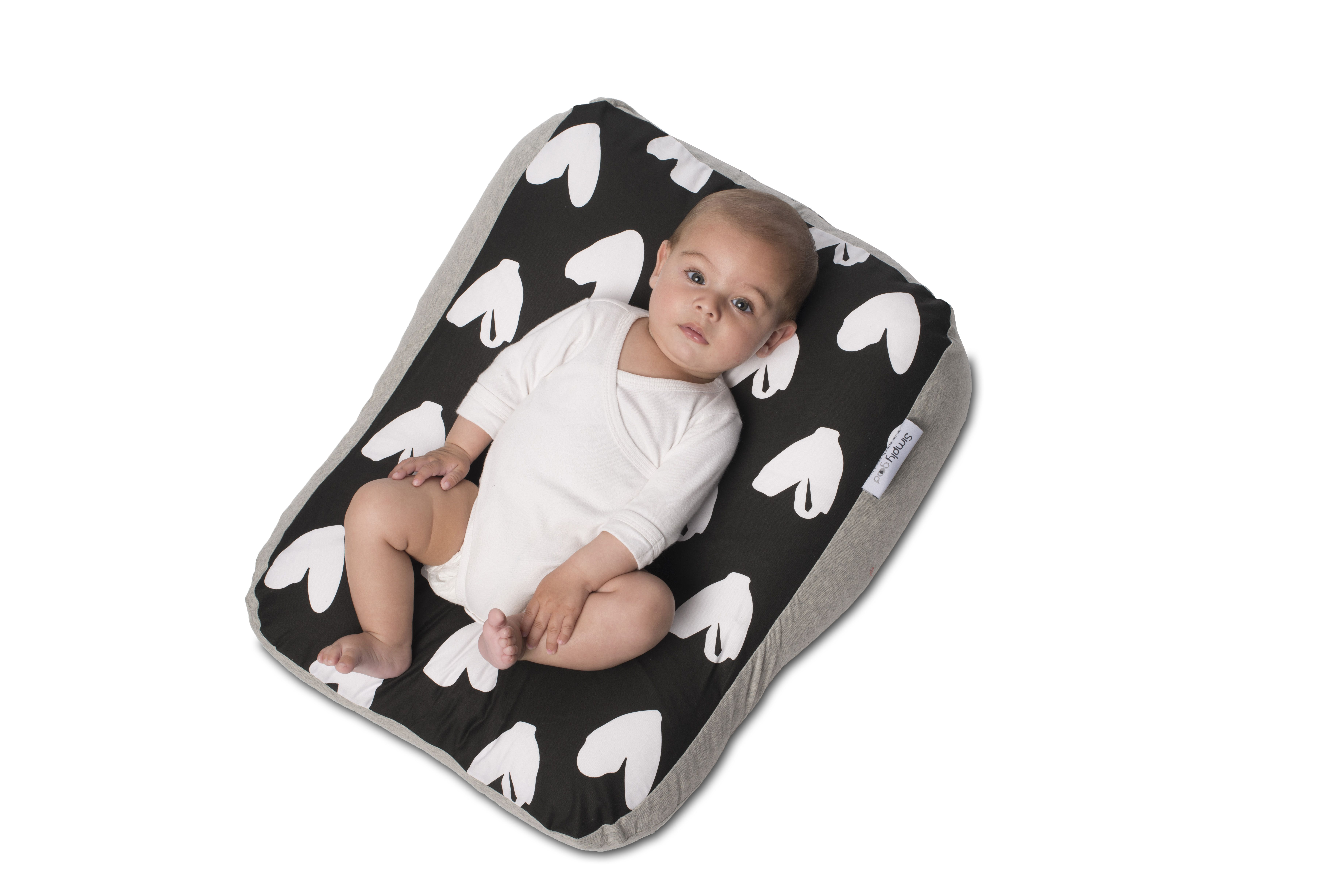 Baby Recliner By Simplygood An Ergonomically Designed Pillow That Naturally Cradles Your Infant Its Gentle Incl Baby Pillows Baby Crib Designs Crib Pillows