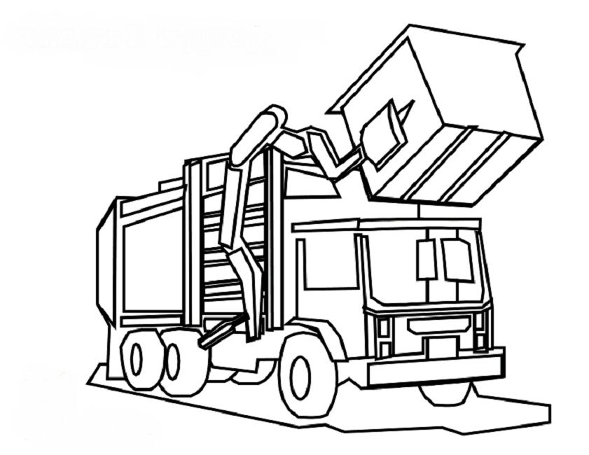 Brilliant Recycling Truck Coloring Page Given Luxury Article