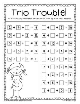 math worksheet : missing addends written equations  word problems grades 1 2  : What Is Addends In Math