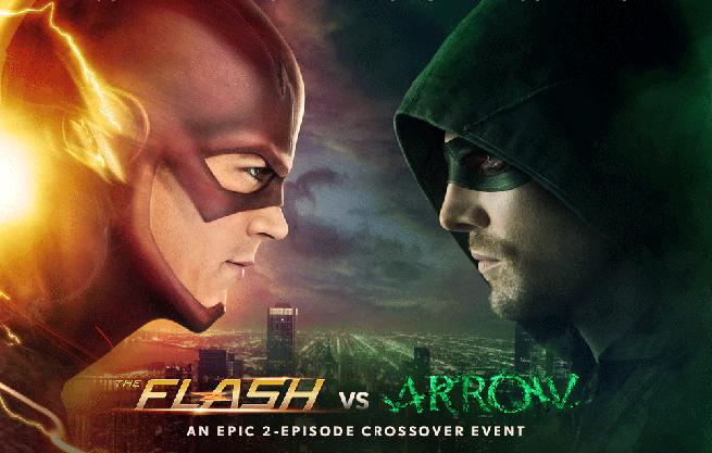 """O episódio """"Flash vs. Arrow"""", a primeira das duas partes do crossover com a série do Arqueiro, será exibido nos EUA dia 2 de dezembro."""