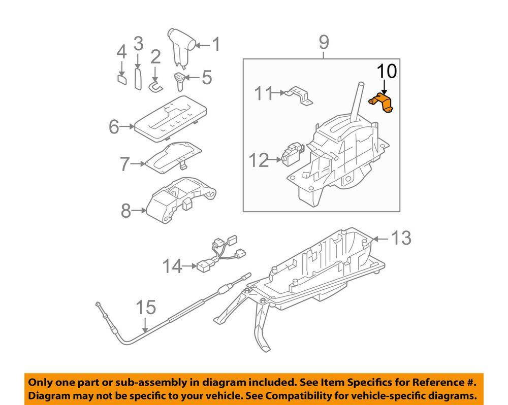 Ad Ebay Vw Volkswagen Oem Touareg Console Shifter Assembly Front Bracket 7l6713839a