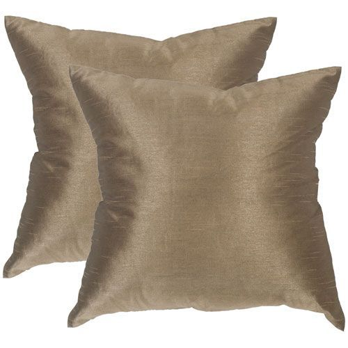 Luster Olive Bronze 40Inch Decorative Pillow Set Of Two Luster Simple Bronze Decorative Pillows