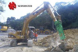 Serminter, venta de martillo hidráulico modelo M900 marca Montabert a Zemer.