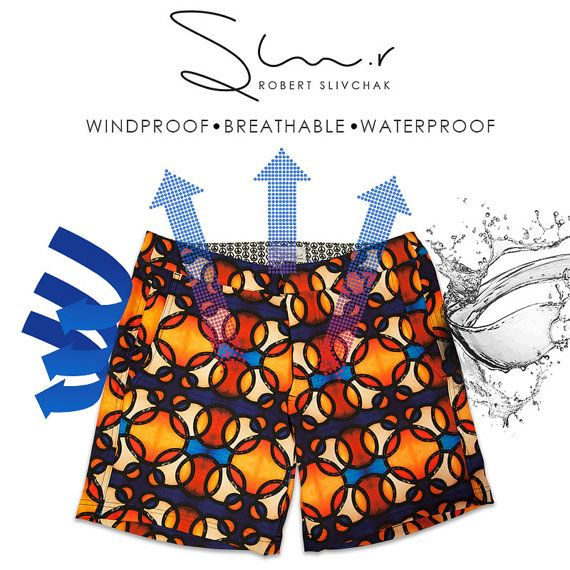 Men's Swim Shorts - Bold Swim Shorts, Inspired by Bold Fine Art. Designed, Printed and Manufactured in Toronto, by Robert Slivchak