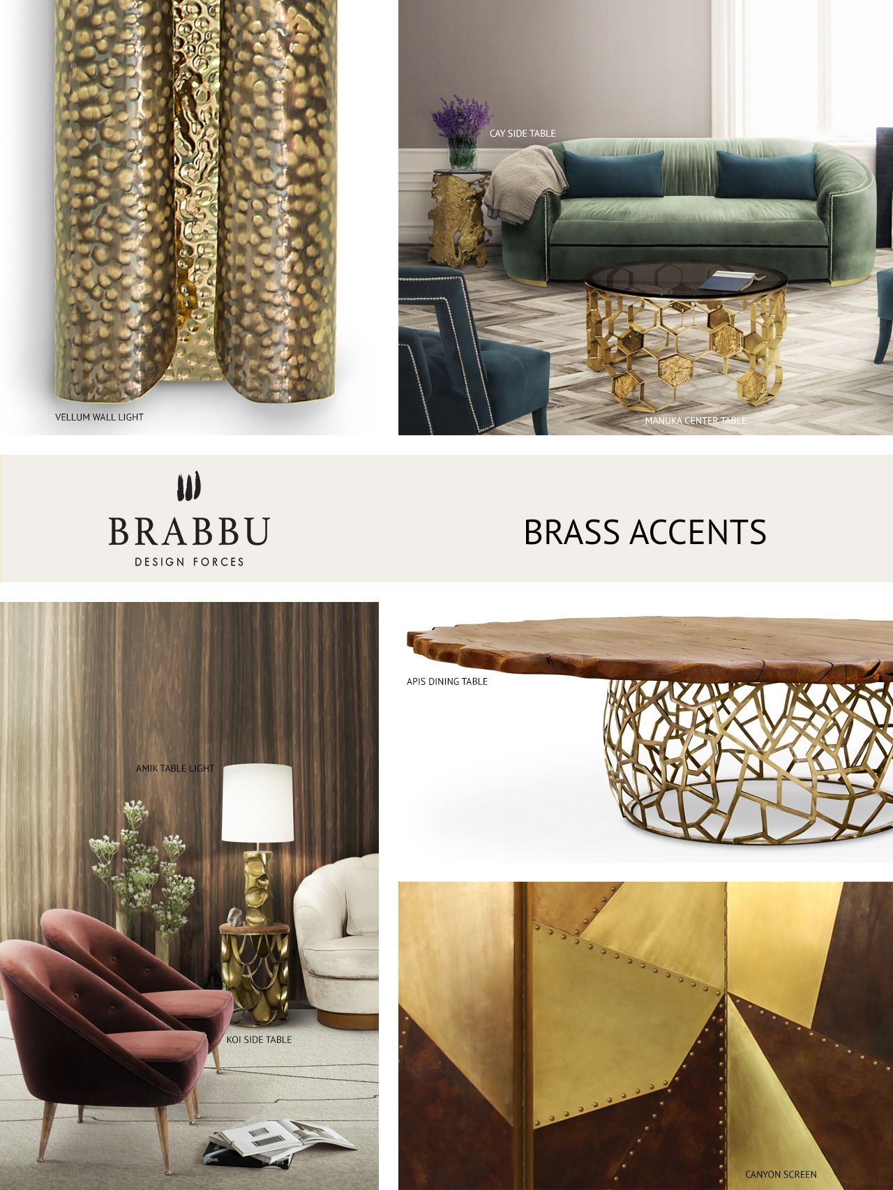 BRASS ACCENTS The Trendiest Materials For