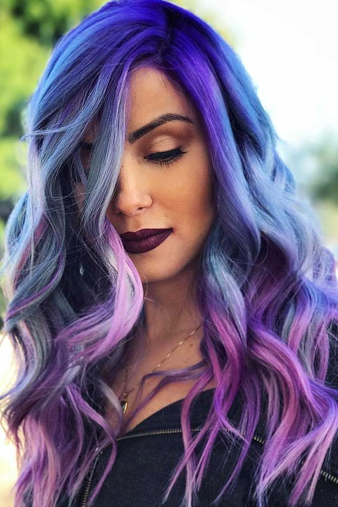 Purple hair is for women who are not afraid to express themselves. Click to  discover trendy hair color ideas with purple 0c67d4a61