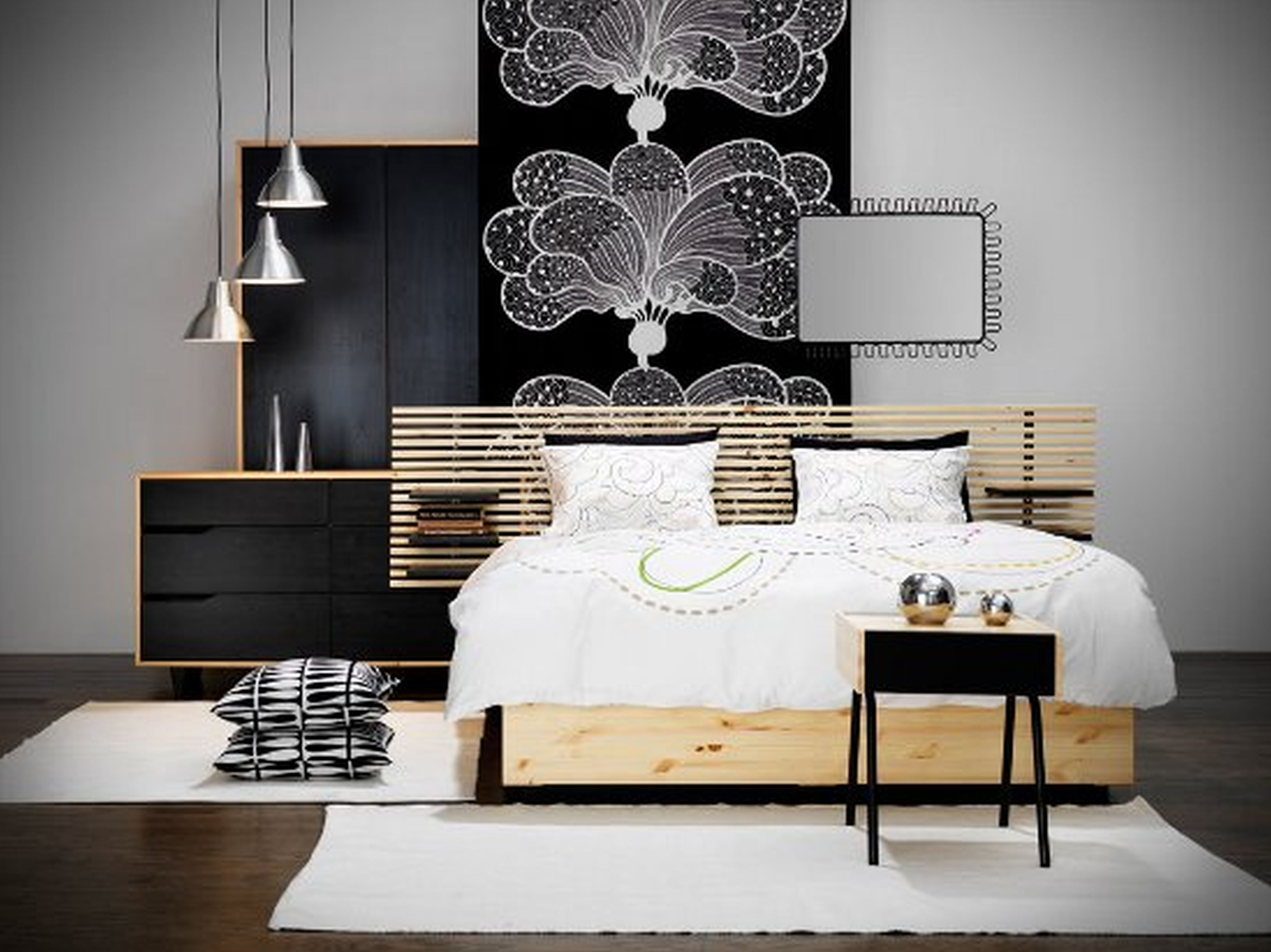 Charming Bedroom Furniture Design With Wood Wall Cover Along Exciting For Contemporary Decor Wooden Bed And