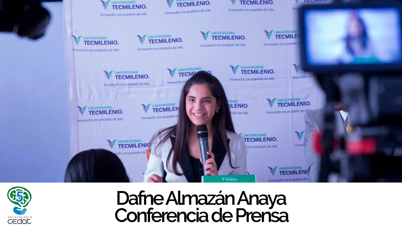 Discurso Rueda de Prensa, Dafne Almazán Anaya