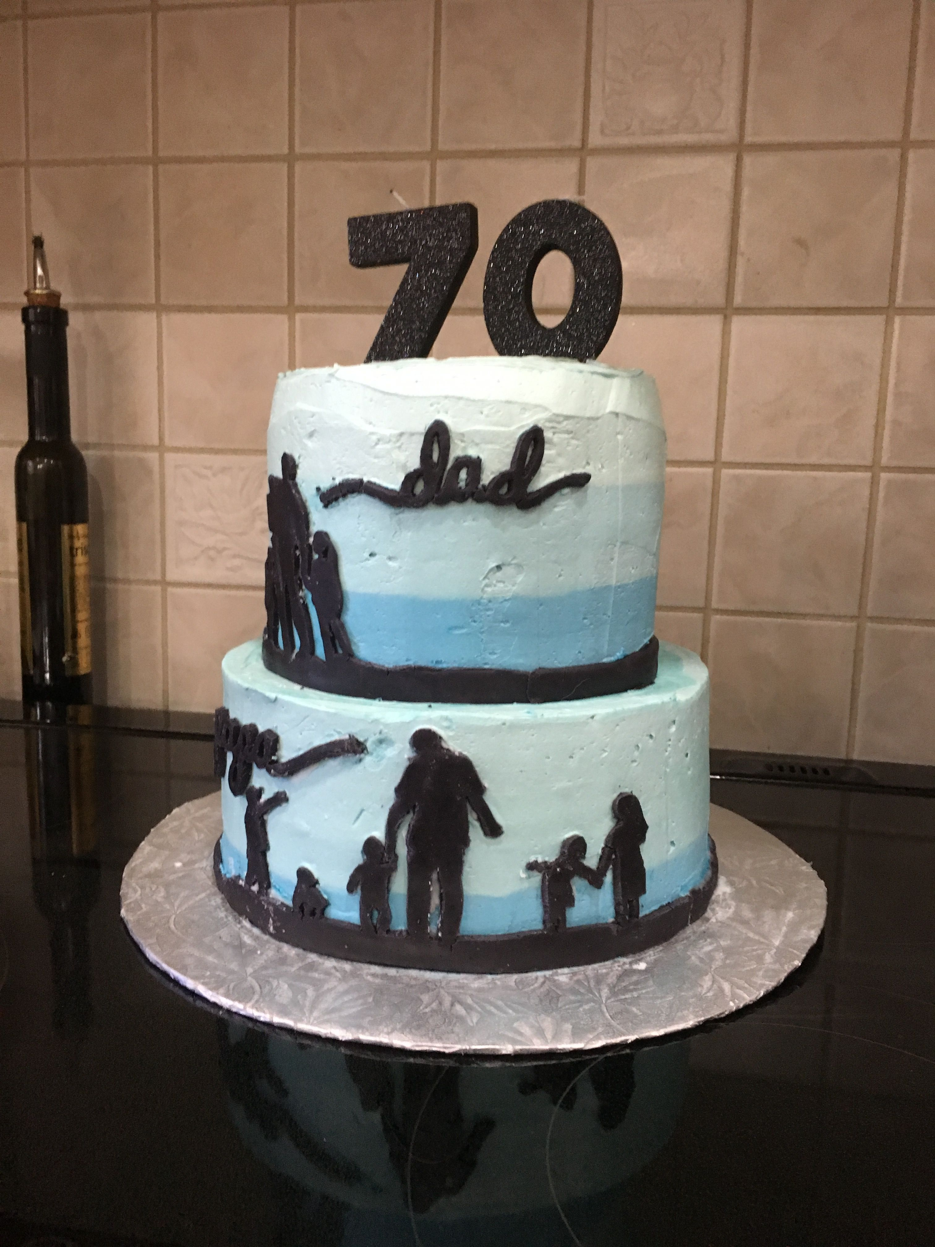 70th Birthday Cake Silhouette Cake Father S Day Cake Idea With