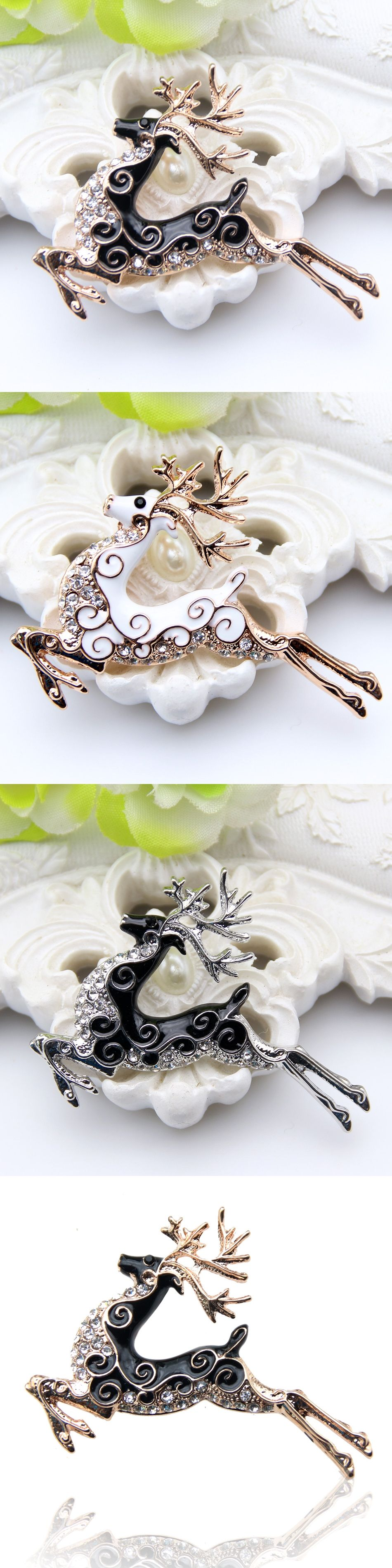 cz deer master brooches carnegie v enamel brooch signed id figural img giraffe hattie pin at jewelry
