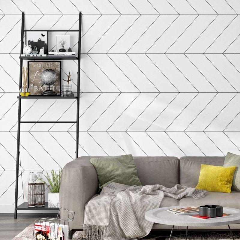 Beibehang Wallpaper For Living Room Office Wall Paper Roll Modern Geometric Wallpaper Line G Geometric Wallpaper Living Room Wallpaper Living Room Living Decor