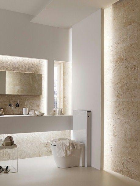 Toilette  - badezimmer beleuchtung wand