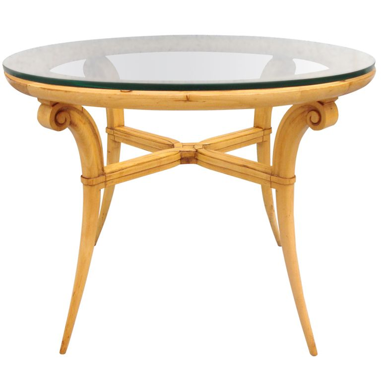 Lane Switchblade Coffee Table: Rare 1940's Andre Arbus French Sycamore Table