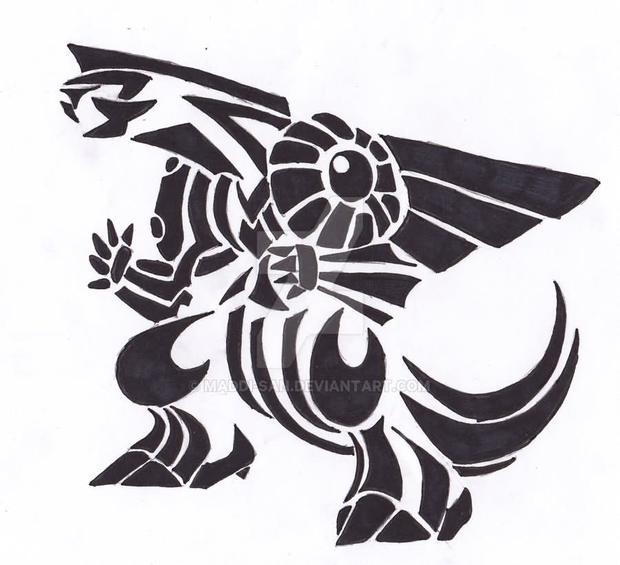 Legendary Palkia Pokemon Tattoo Stencil By Jen Eleven Pokemon Tattoo Tribal Pokemon Tribal Art