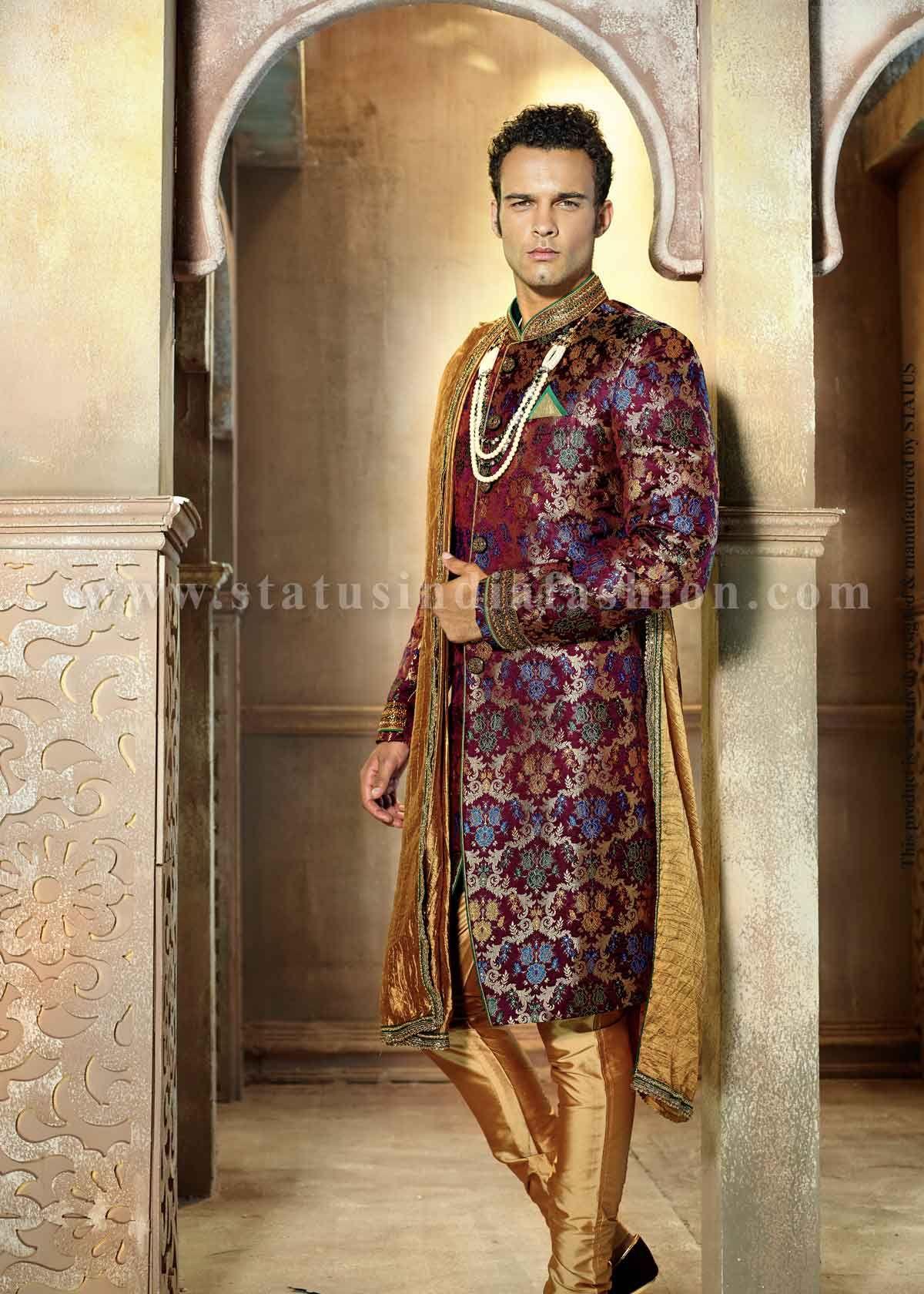 Mens wear, groom wedding dress, g…   Mens Indian Wear, Groom ...