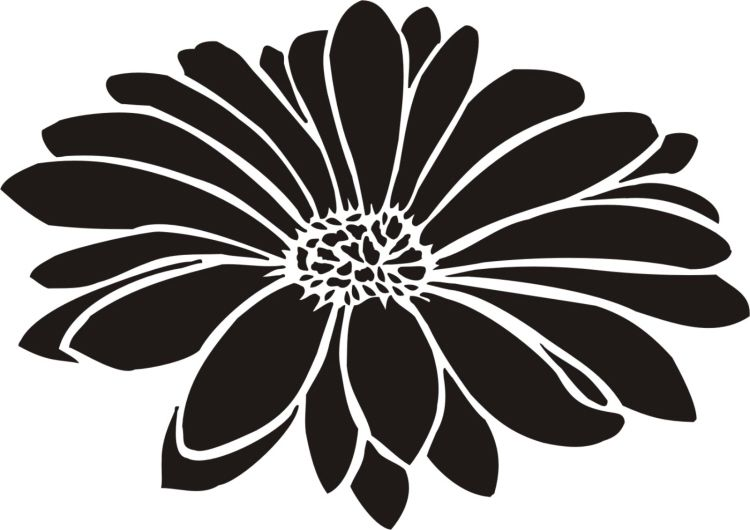 Painting Stencil Large Daisy