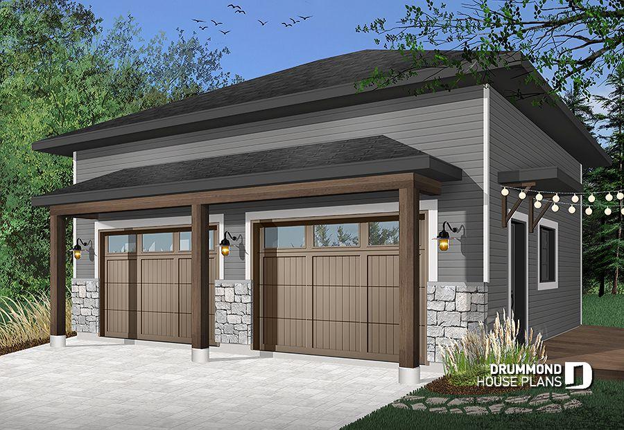 Garage Plan Touareg 3997 Drummond House Plans Modern Garage