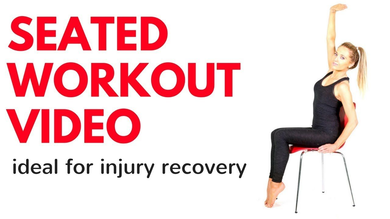 SEATED WORKOUT VIDEO - Chair exercises ideal for people recovering from injury - YouTube  sc 1 st  Pinterest & SEATED WORKOUT VIDEO - Chair exercises ideal for people recovering ...