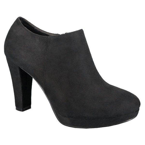 70cd9125 zapato botín negro de tacón y plataforma en ante | ♡wishlist ...
