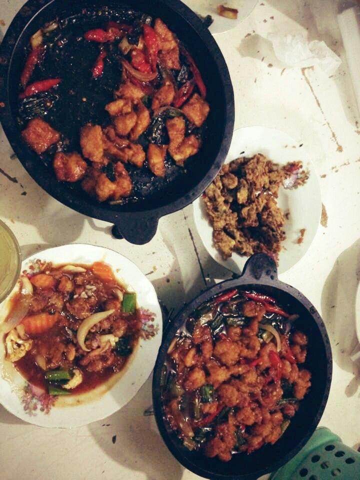 Ayam Hotplate Udang Asam Pedas Udang Hotplate Kerang Goreng Tepung Tepung