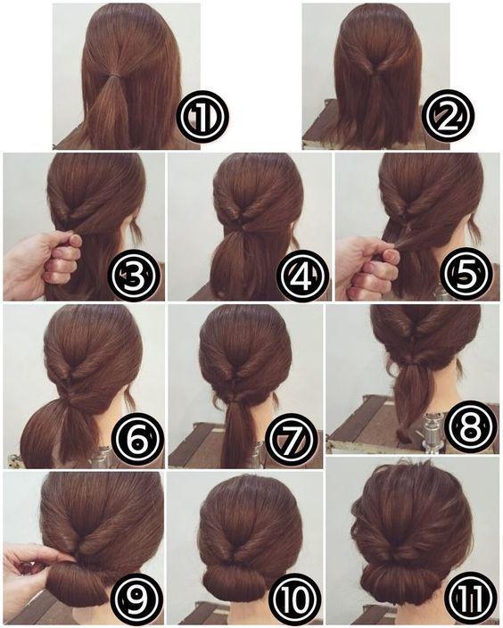 Peinados de boda fáciles de bricolaje para cabello largo