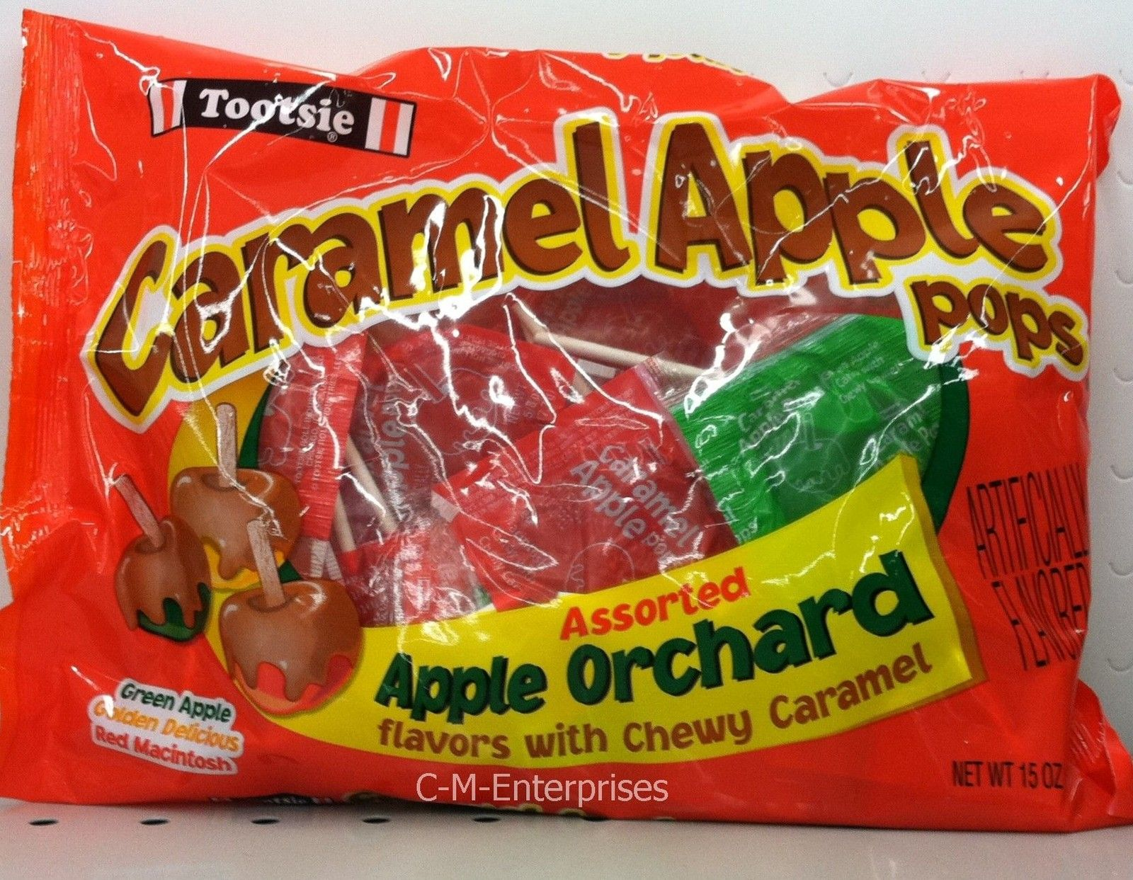 Tootsie Caramel Apple Assorted Apple Orchard Pops 15 oz