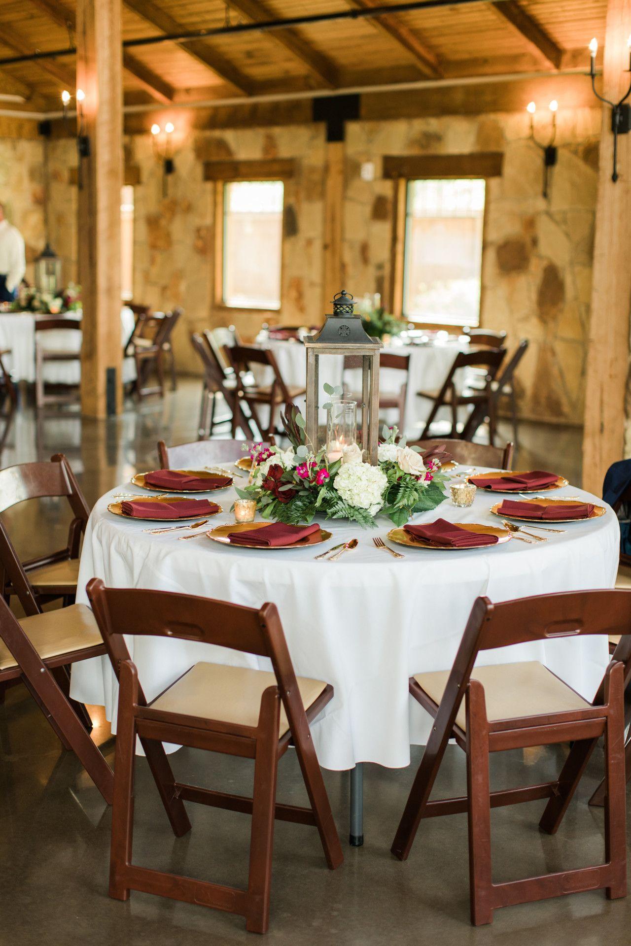 Fall wedding decor ideas  maroon wedding reception decorations  maroon  gold modern rustic