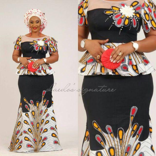 bb64187a15b27e Peplum Ankara Skirt And Blouse Styles   african traditional dresses ...