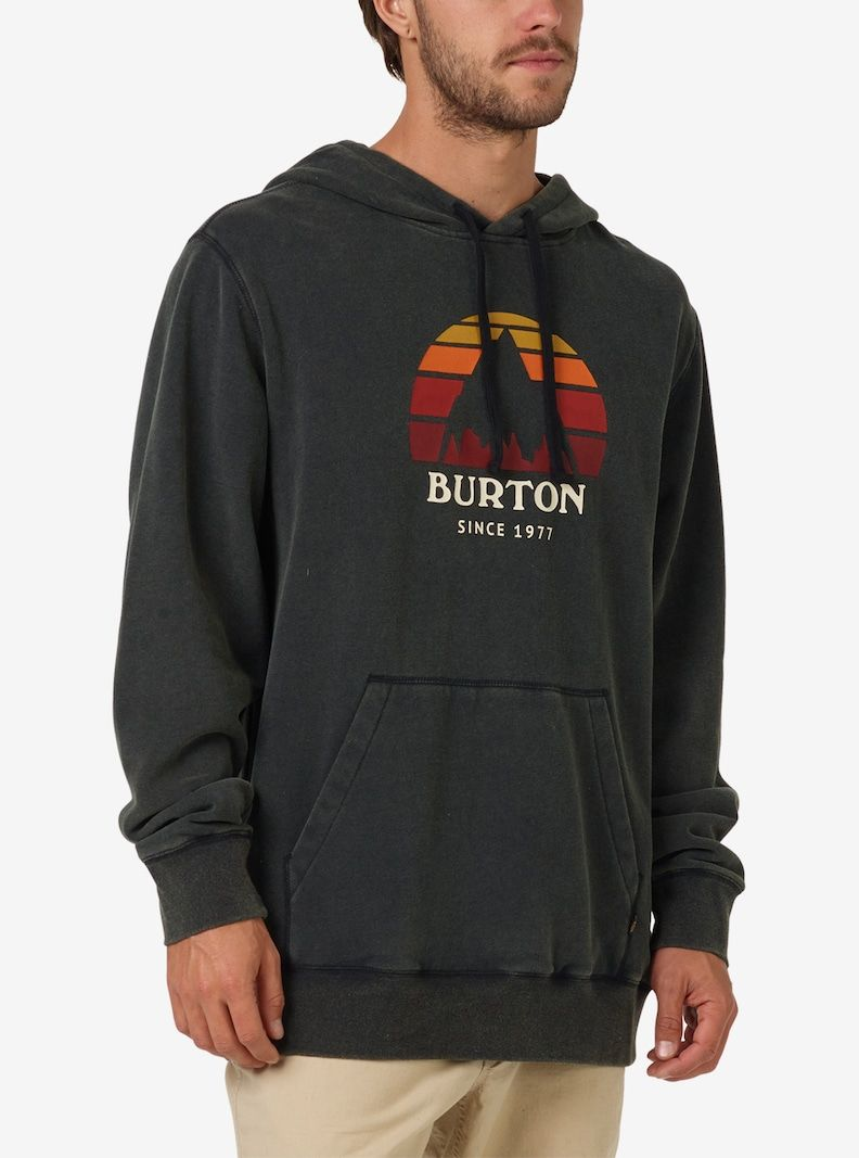 34a034886 Men's Burton Underhill Pullover Hoodie shown in True Black | Winter ...
