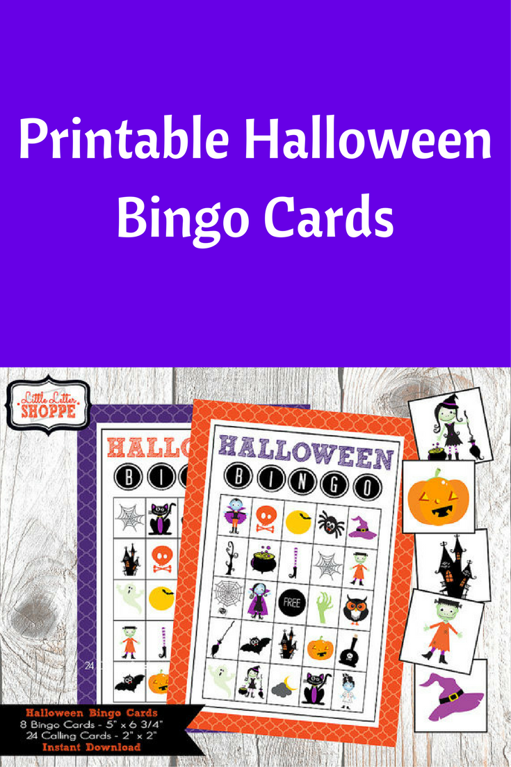kids printable halloween bingo cards fun game for a party or activity in school