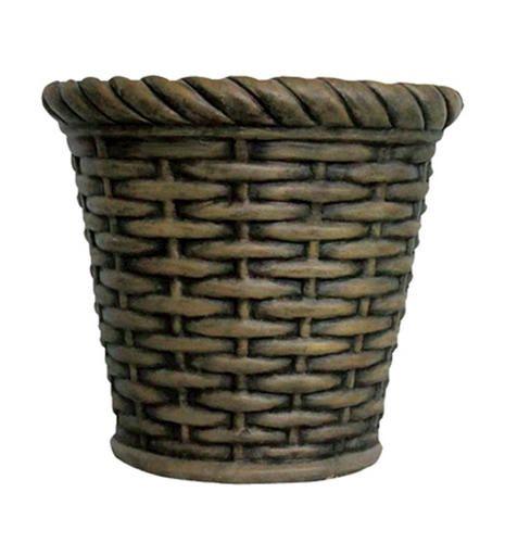 12 Cement Basket Planter At Menards Basket Planters Menards Planters