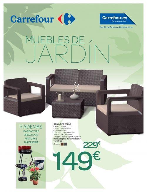 Muebles jardín Carrefour verano 2018: todo el catálogo | Pinterest ...
